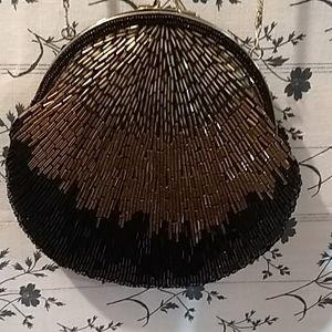 La Regale, vintage beaded, evening bag